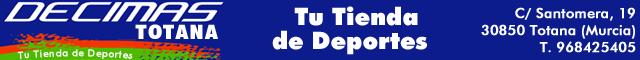 Equipamiento deportivo Totana : Décimas Totana