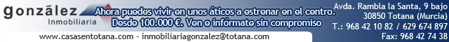 Agentes inmobiliarios Totana : INMOBILIARIA  GONZALEZ