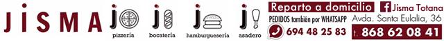 Asadores de pollos Totana : Jisma Pizzería