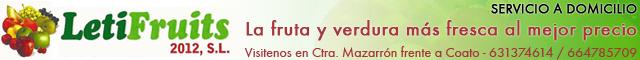 Fruterías Totana : Letifruits 2012, Sl El Paraíso de la Fruta
