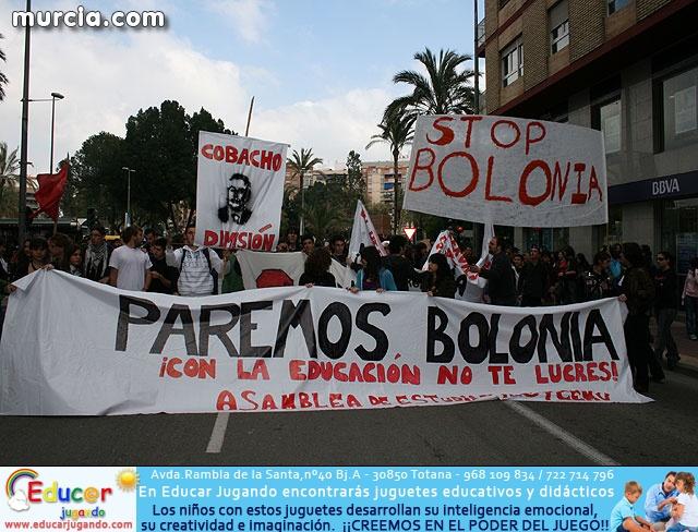 Un millar de estudiantes protestan contra el proceso de Bolonia en Murcia - 1